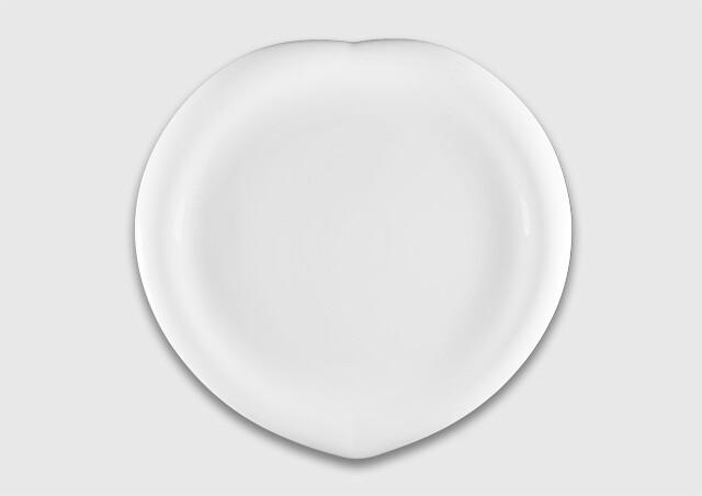Тарелка листок 25 см.