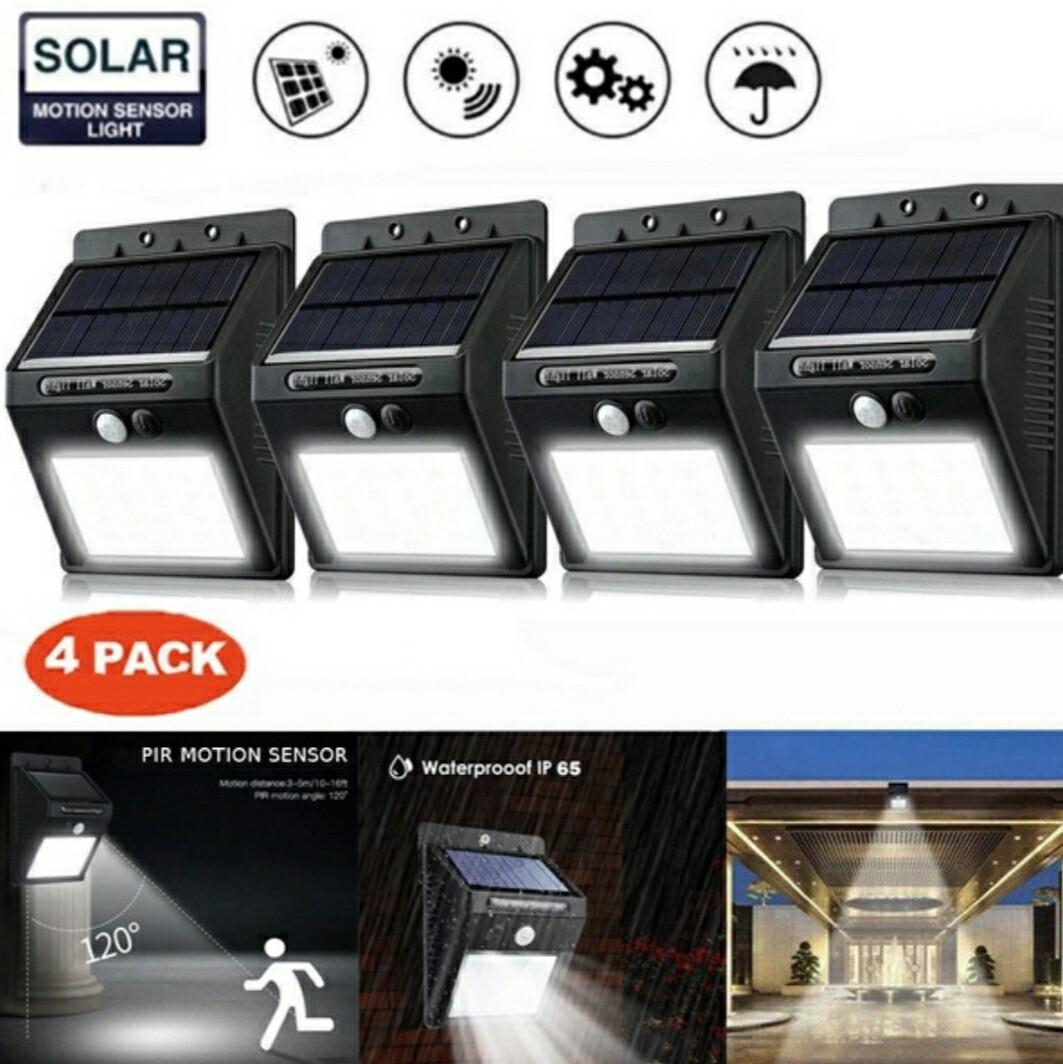 30LED Solar Sensor Light 4Pack