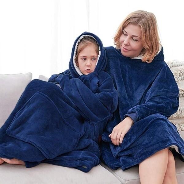 Hoodie Blanket Blue