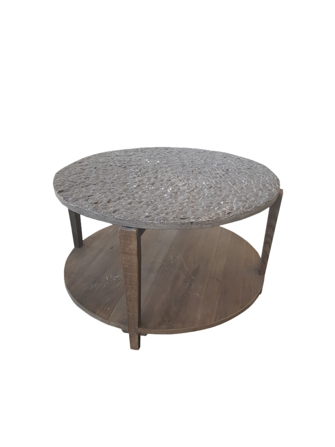 Coffee Table with Handcrafted Bluestone Top