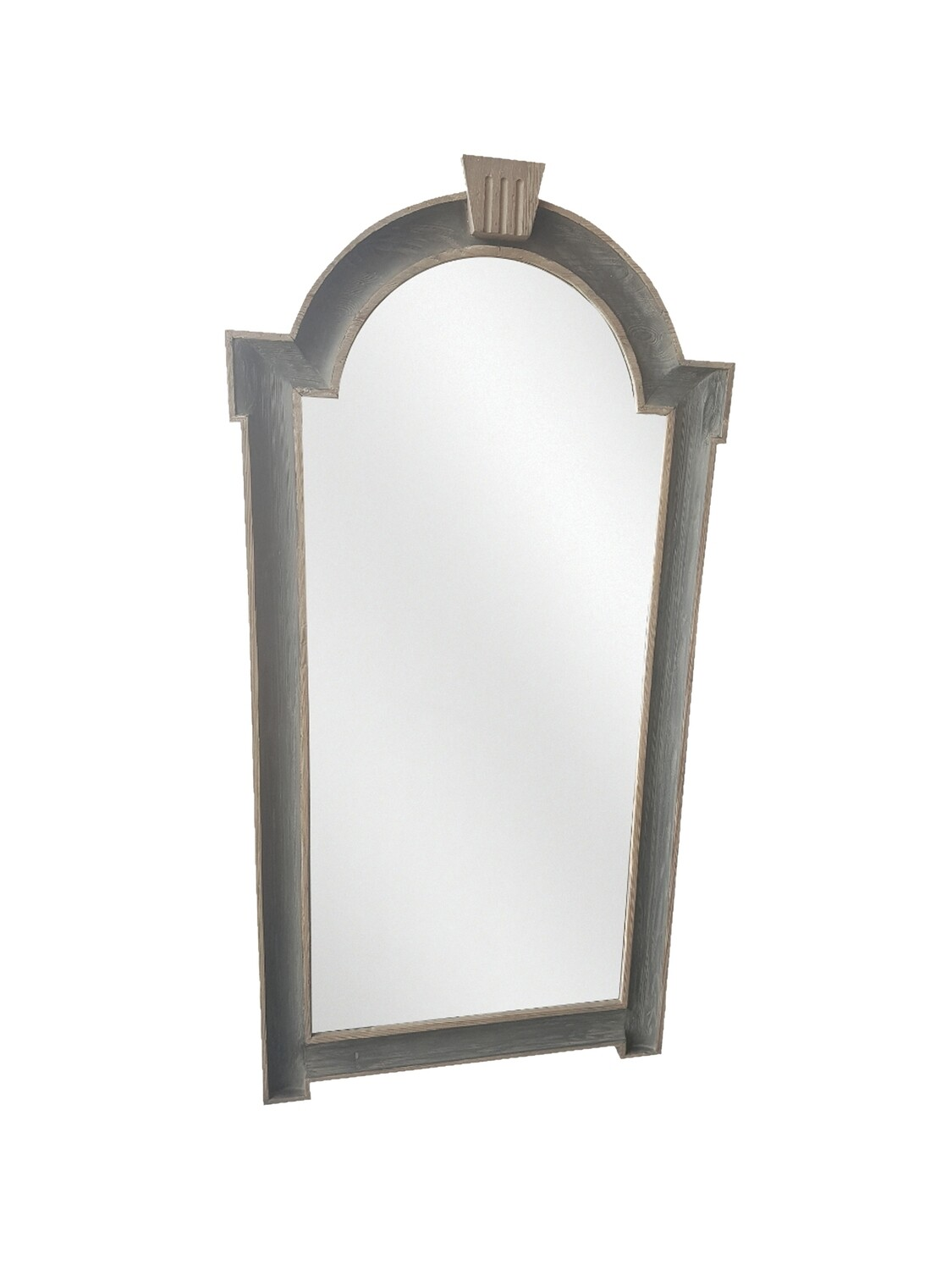 Grey Black Recycled Pine Mirror