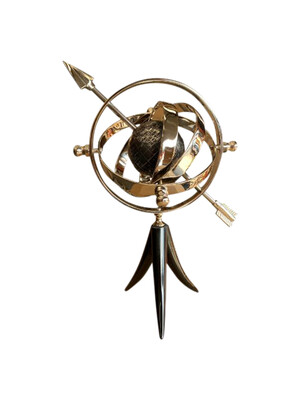 Armillary with Globe and Arrow
