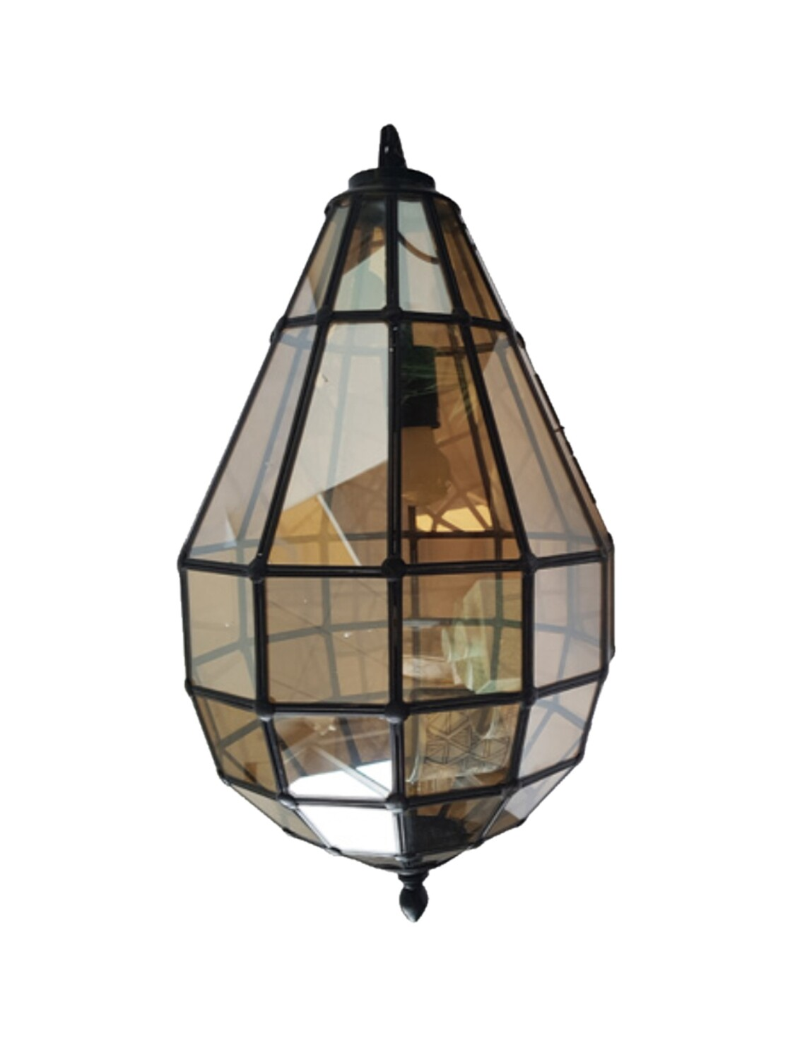 Bronze/Brown Glass Pendant Light