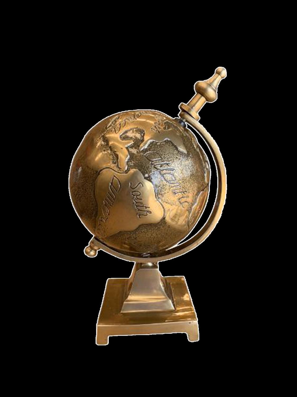 Embossed Globe on Base