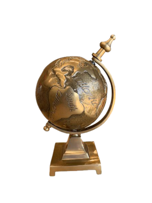Embossed Globe on Base