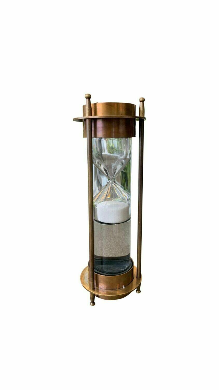 Brass Liquid Sand Timer with Compass
