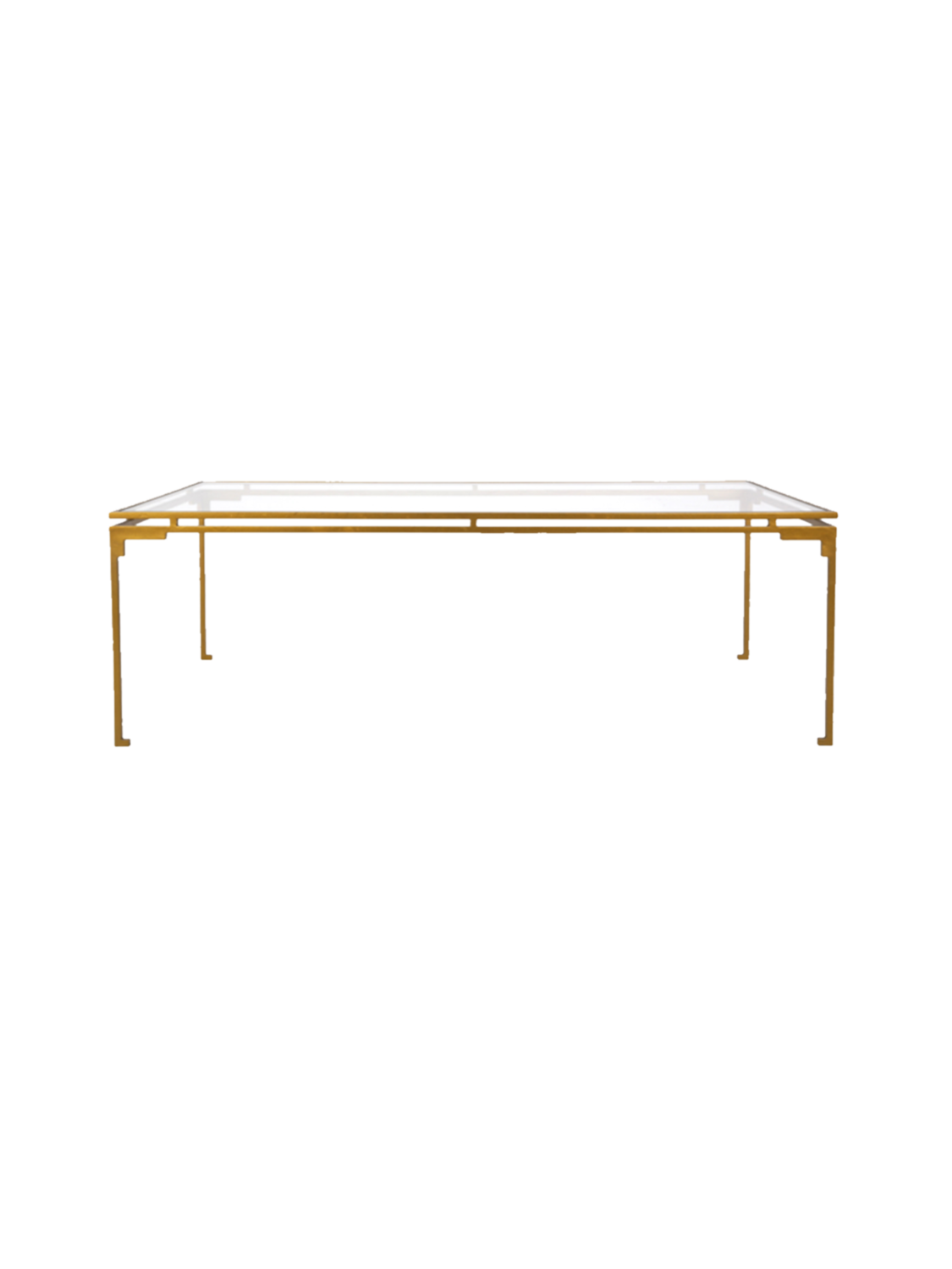 Chicago Rect Gold Coffee Table