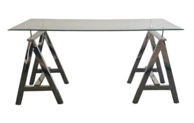 Steel and Glass Table 1500