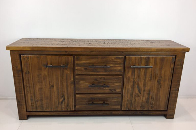 Industrial Buffet Table
