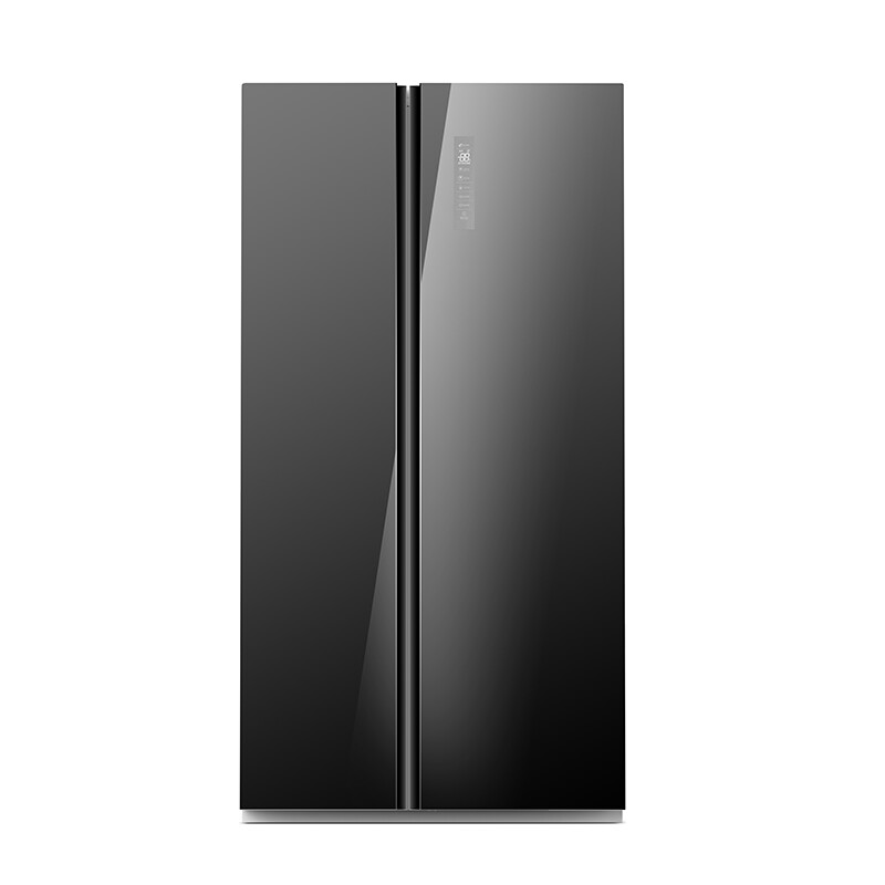 Midea 584L Fridge Freezer Black Glass