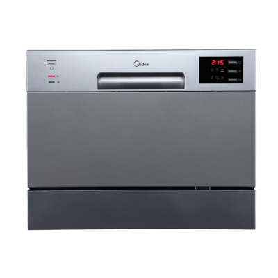 Midea 6 Place Setting Bench Top Dishwasher Stainless Steel JHDW6TT