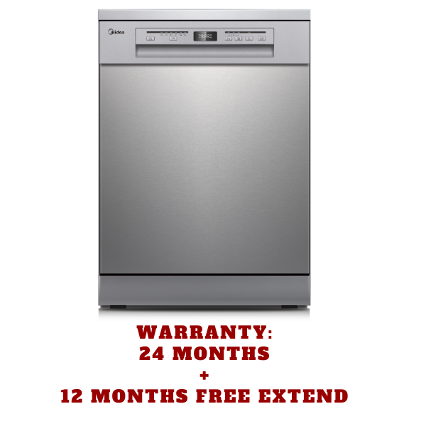 Midea 15 Place Setting 3-Layers Dishwasher Stainless Steel with 3-year Warranty JHDW152FS