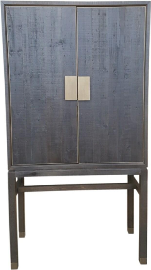 Old FIR & Brass Cabinet