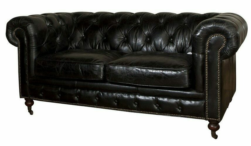 Hampton Court 2 Seater Belon Black