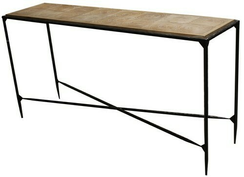 Outback Hall Table-Elm/Iron