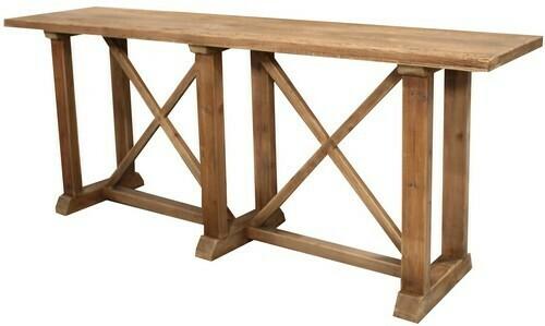 Console Table Reclaimed Oak