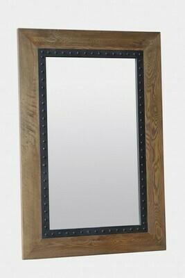 Oak Mirror Iron Frame