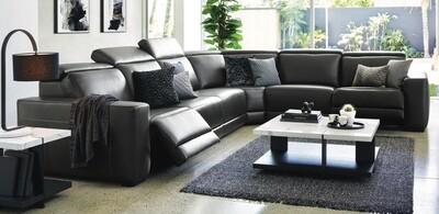 MASSARO 6 Seater Electric Corner Lounge Suite