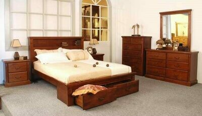 ​Marina Queen 6Pcs Bedroom Suite with Storage Drawers