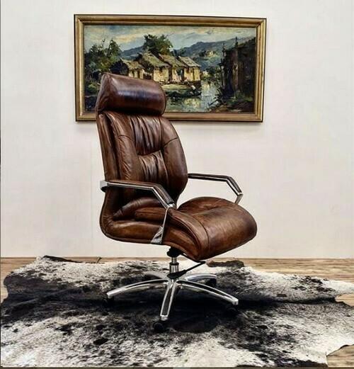 Gm Adjustable Desk Chair - Vintage Cigar Brown