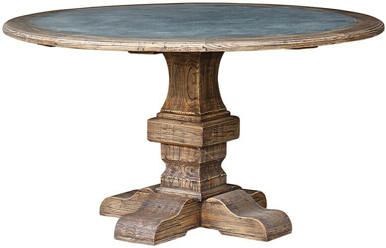 Reclaimed Elm Round Table