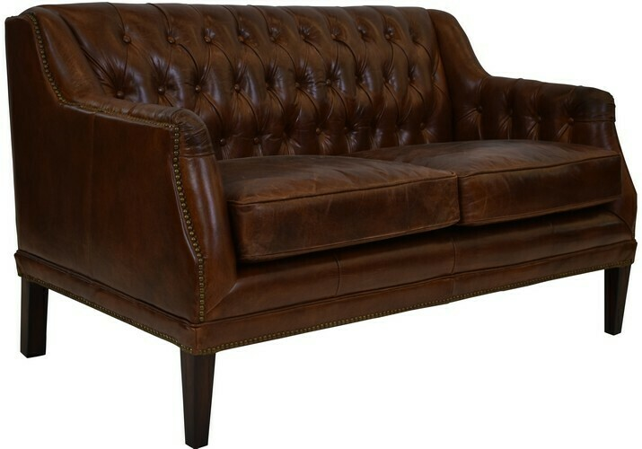 Denmark 2 Seat Sofa - Vintage Cigar Brown