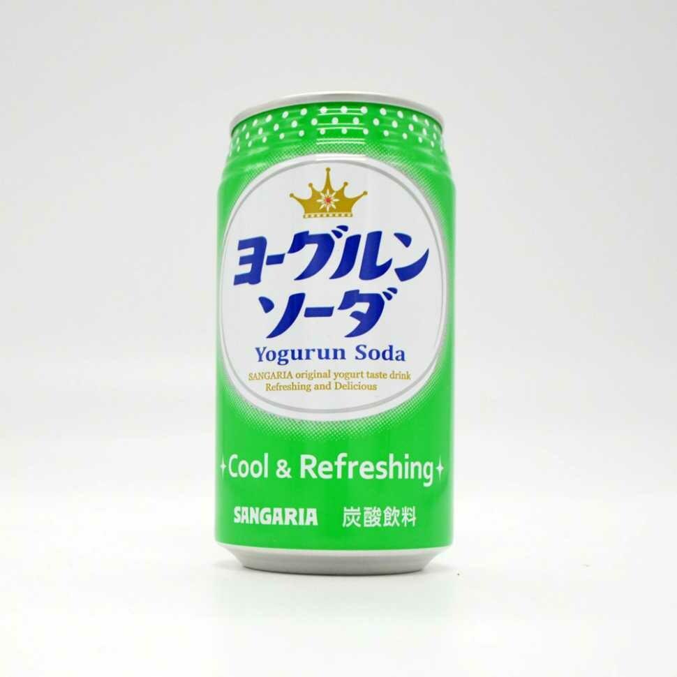 "Напиток Sangaria ""Yogurun Soda""  (йогурт) 0.35 л"