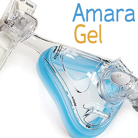Mascarilla Oronasal CPAP, BiPAP Modelo Amara con Almohadilla de Gel