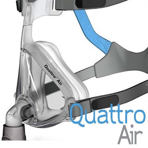 Mascarilla Oronasal CPAP, BiPAP Modelo Quattro Air