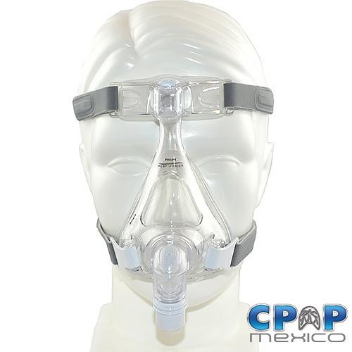 Mascarilla Oronasal CPAP, BiPAP Amara con Almohadilla de Silicon