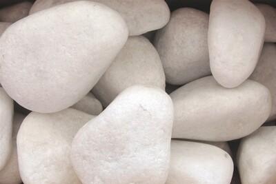 Seixo de Marmore Branco (Saco 25kgs) IVA Incluído