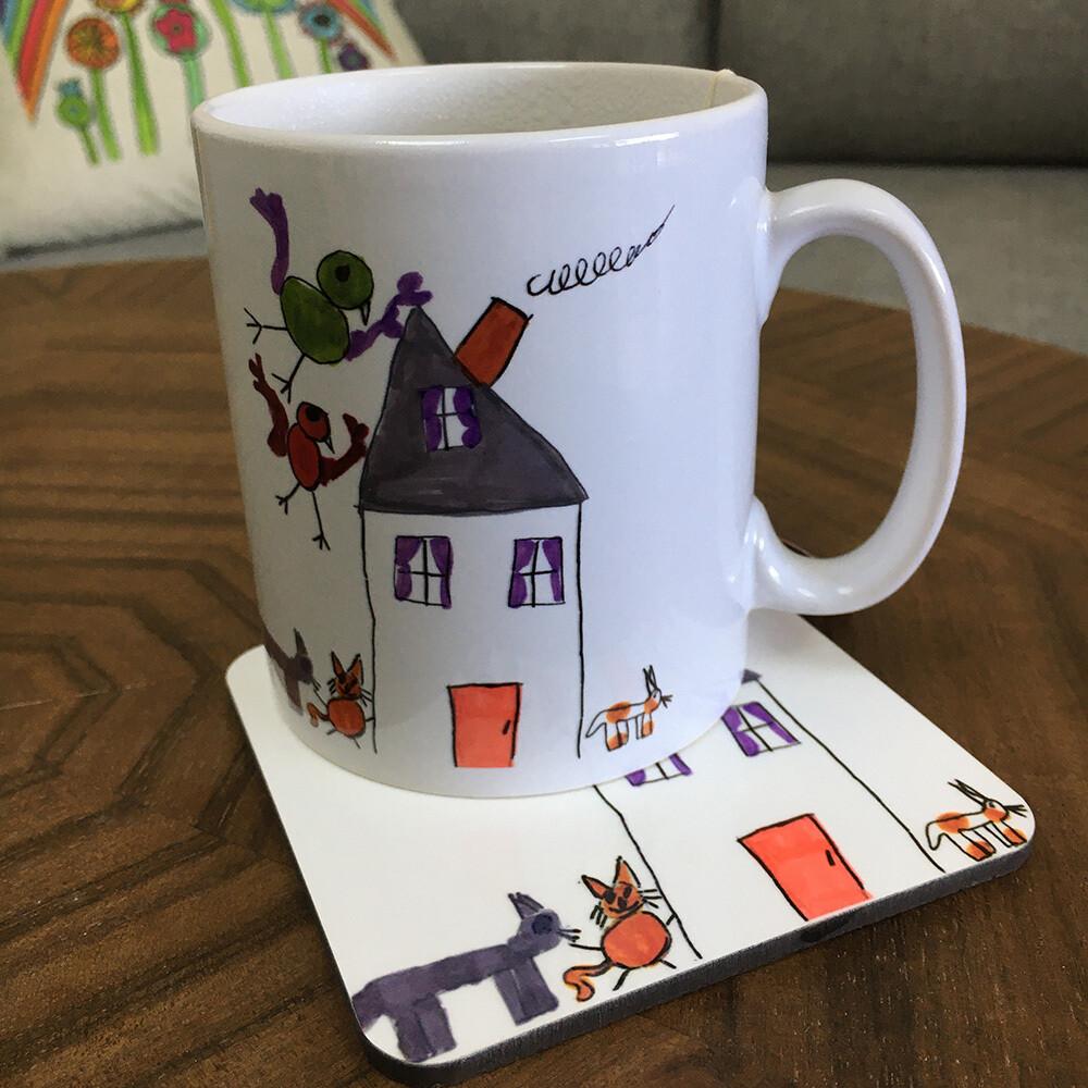 Personalised Set - Mug and Coaster