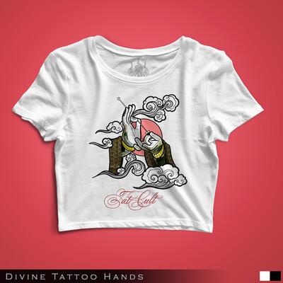 Divine Tattoo Hands - Crop Top