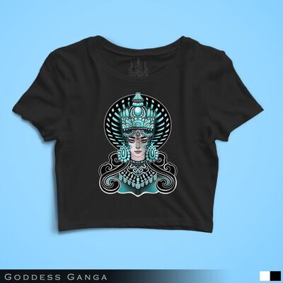 Goddess Ganga - Crop Top