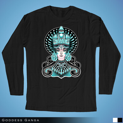 Goddess Ganga - Long Sleeves