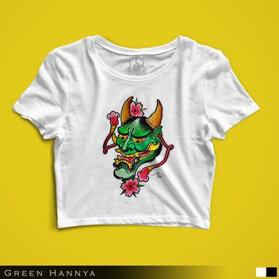 Green Hannya - Crop Top