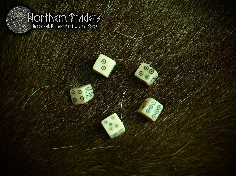 Bone dices - Set of 5