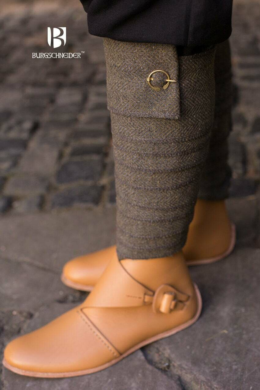 Medieval Leg Wraps - Herringbone Wool Winingas - Various Colours