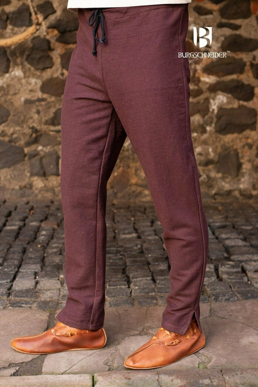 Cotton Skjoldehamn Trousers - Brown