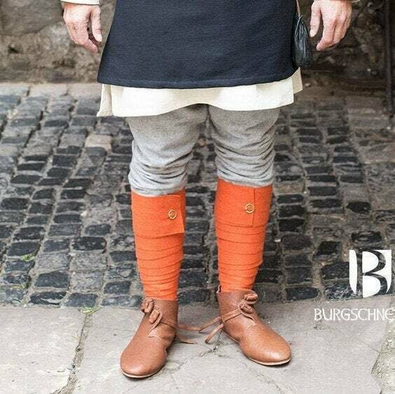 Medieval Leg Wraps - Wool Winingas - Orange