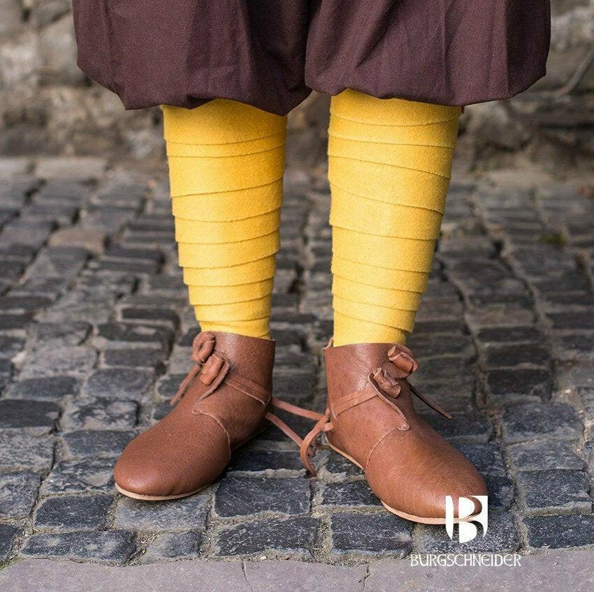 Medieval Leg Wraps - Wool Winingas - Yellow
