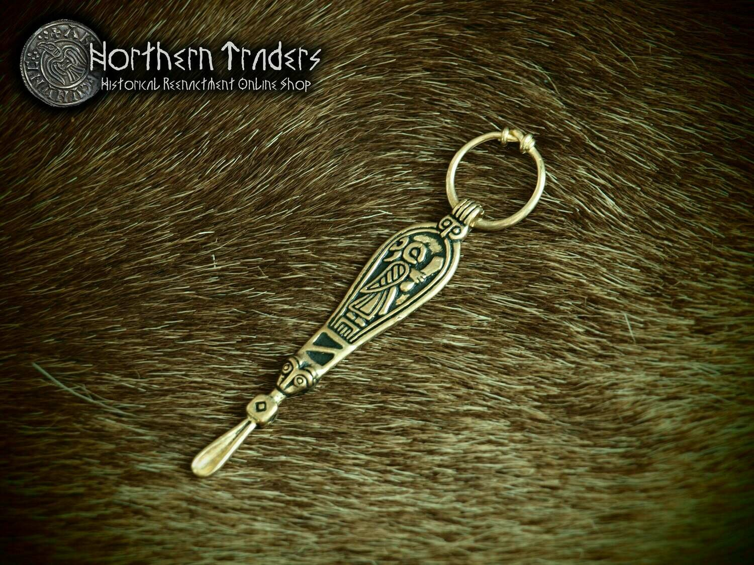 Scandinavian Ear Spoon Pendant from Birka