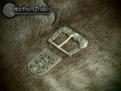 Scandinavian Buckle from Værne and Belt End from Rygge