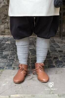 Medieval Leg Wraps - Wool Winingas - Light Grey