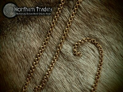 Double link chain in brass