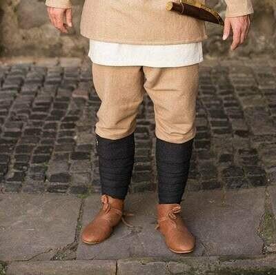 Medieval Leg Wraps - Wool Winingas - Dark Grey