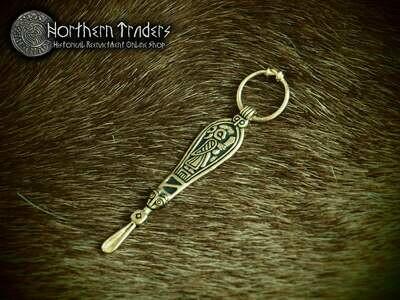 Scandinavian Ear Spoon Pendant from Birka