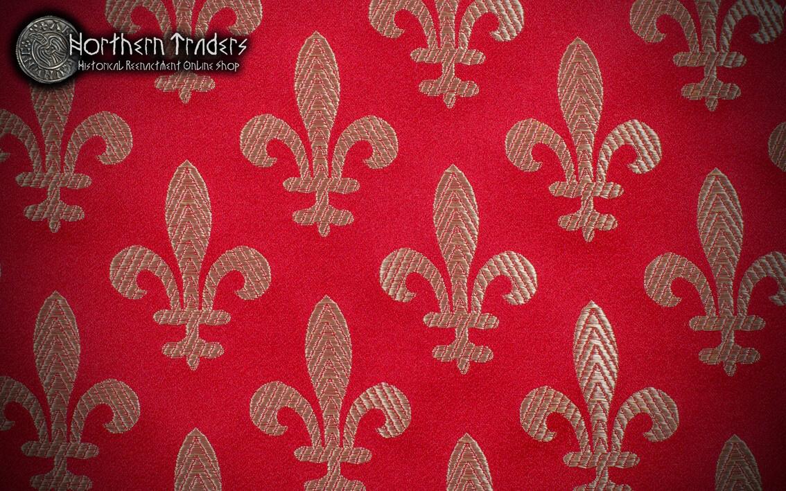 """Medieval Brocade """"Fleur-de-lis"""" - Different Available Colours"""