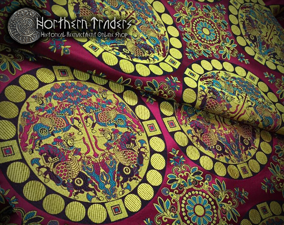 Oseberg Style Silk Brocade
