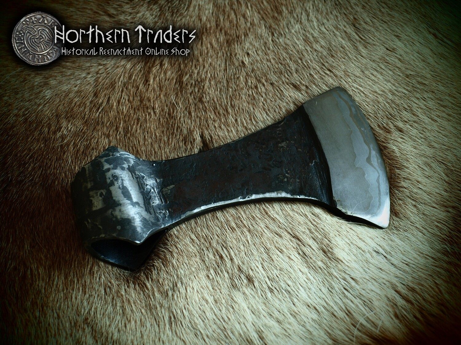 Viking Axe with Damascus Edge